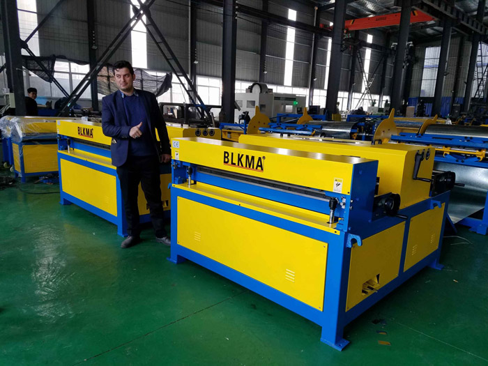 Iranian Customers Visit BLKMA Auto duct production line II